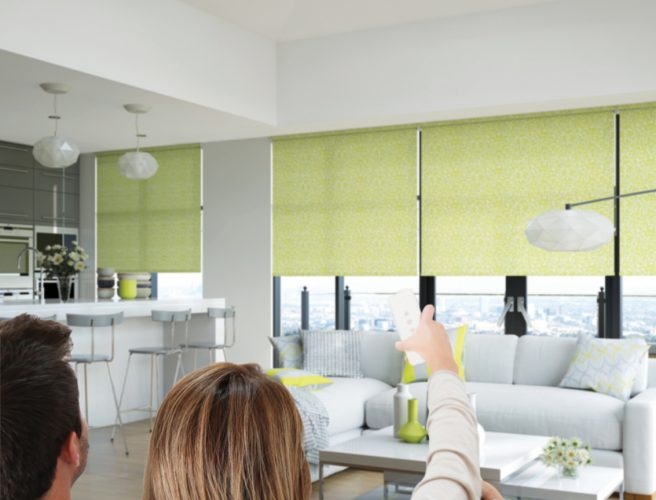 Motorised Roller blinds for the living room - Blinds Norfolk - Norwich Sunblinds