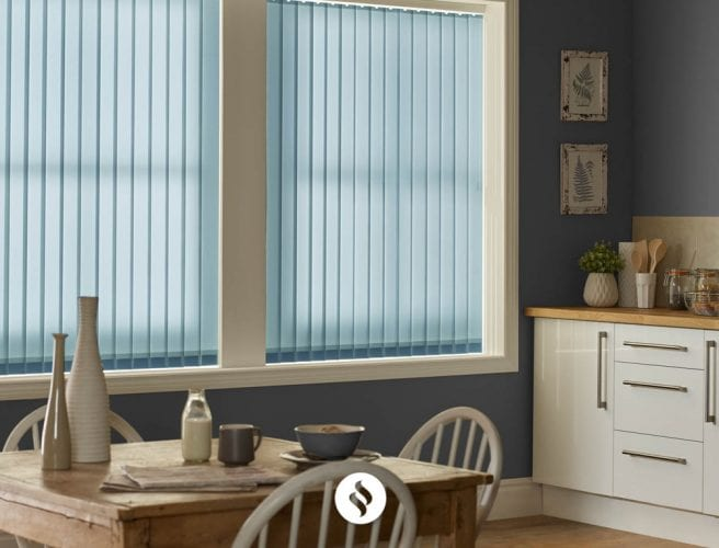 Vertical kitchen blinds from Norwich Sunblinds
