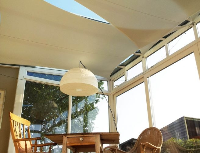 Pitman Sails, keeping the heat out and the temperature comfortable in this sun room.