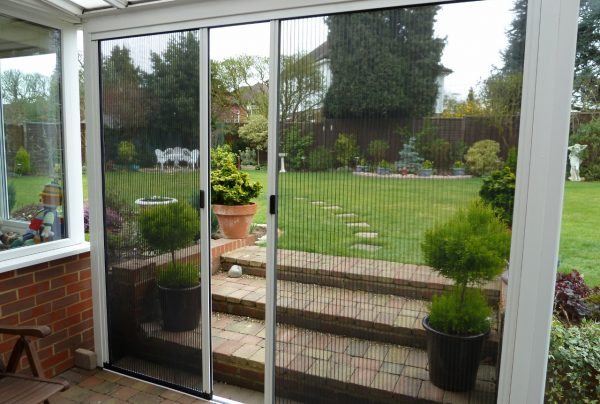 Double door conservatory fly screen