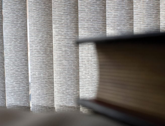Textured fabric in vertical blinds