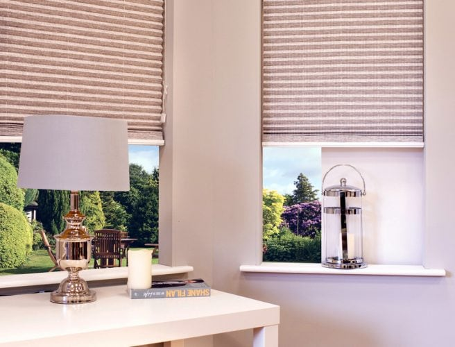 Portorro Garden perfect fit pleated blinds