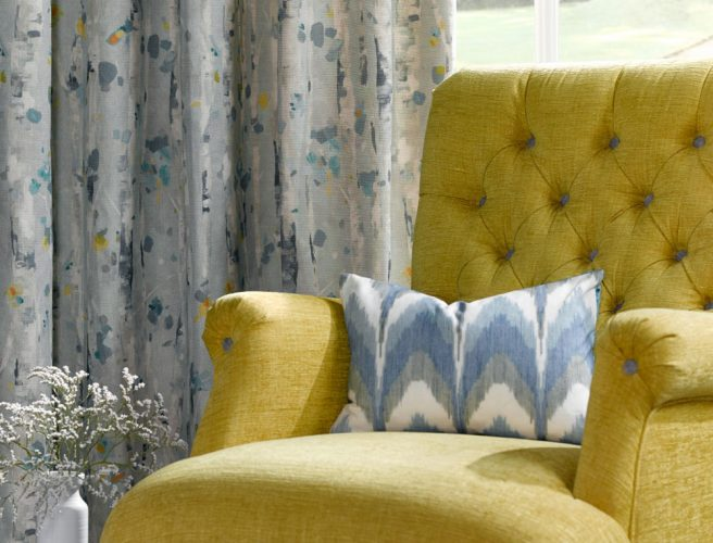 Rashiekas Garden Curtain fabric sourced by Norwich Sunblinds from Voyage
