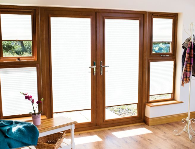 Regency fabric perfect fit pleated blinds