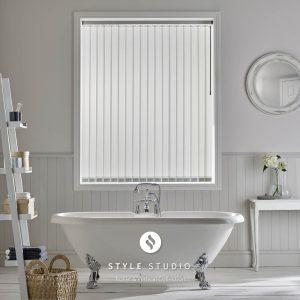 Bathroom vertical blinds - Blinds Norfolk - Norwich Sunblinds