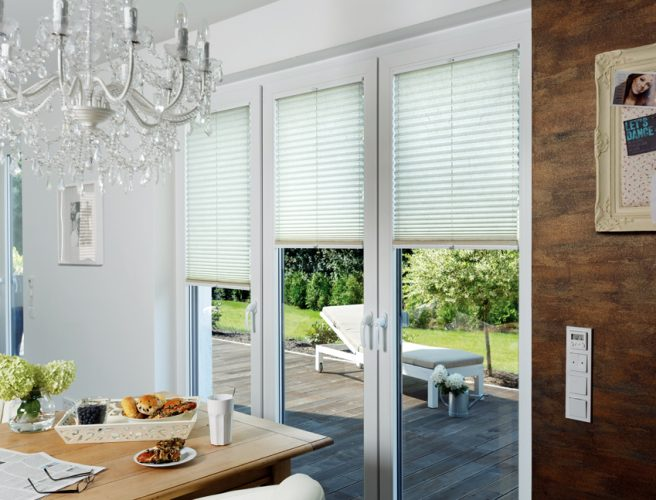 Ripple perfect fit pleated blinds