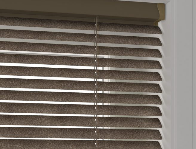 Bronze hammered coal venetian blinds