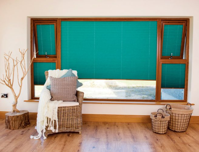 Spectrum fabric pleated perfect fit blinds - Blinds Norfolk - Norwich Sunblinds
