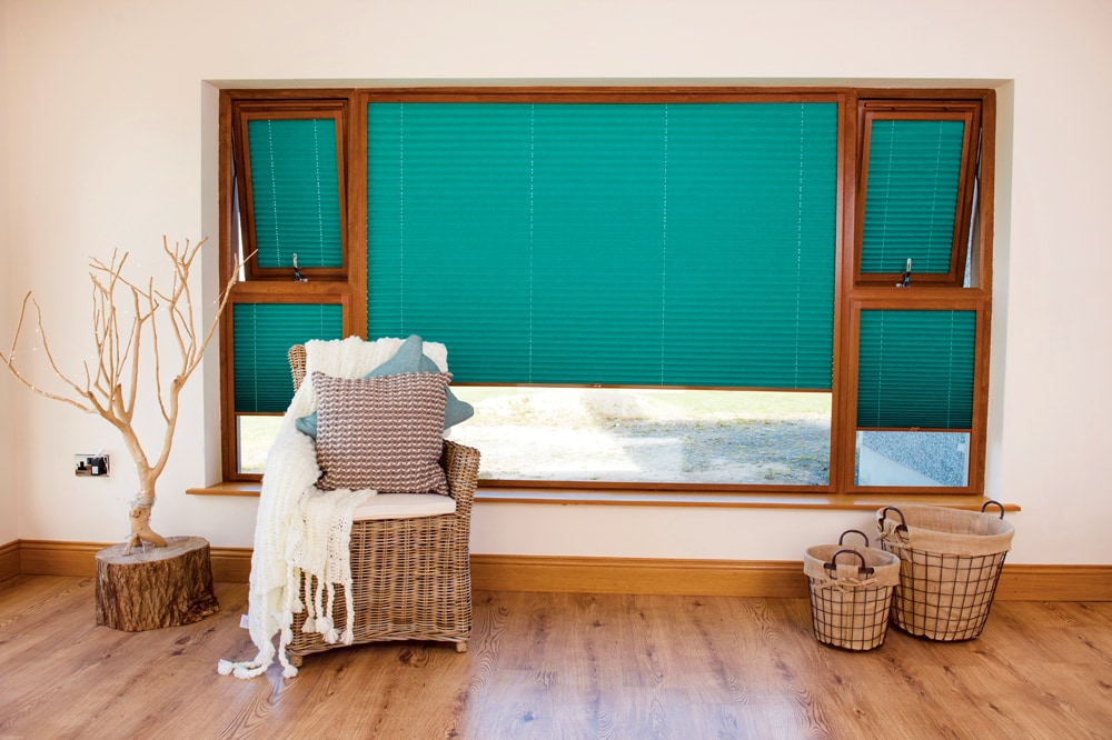 Spectrum fabric pleated perfect fit blinds