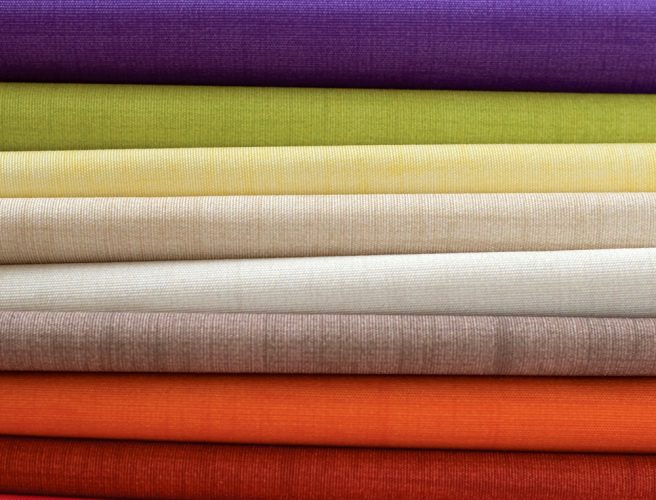 Close up of the many colours available from the Spectrum fabric range from RAirwin
