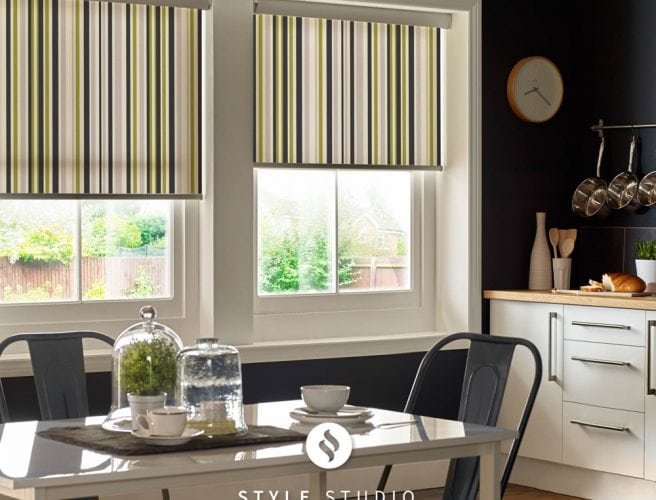 Spectrum Lime Kitchen roller blind