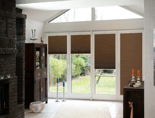 Twilight fabric pleated perfect fit blinds