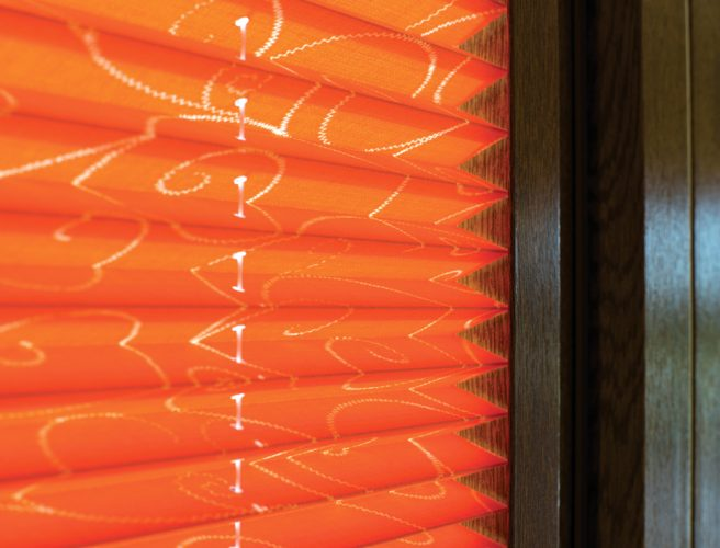 Twine fabric perfect fit pleated blinds