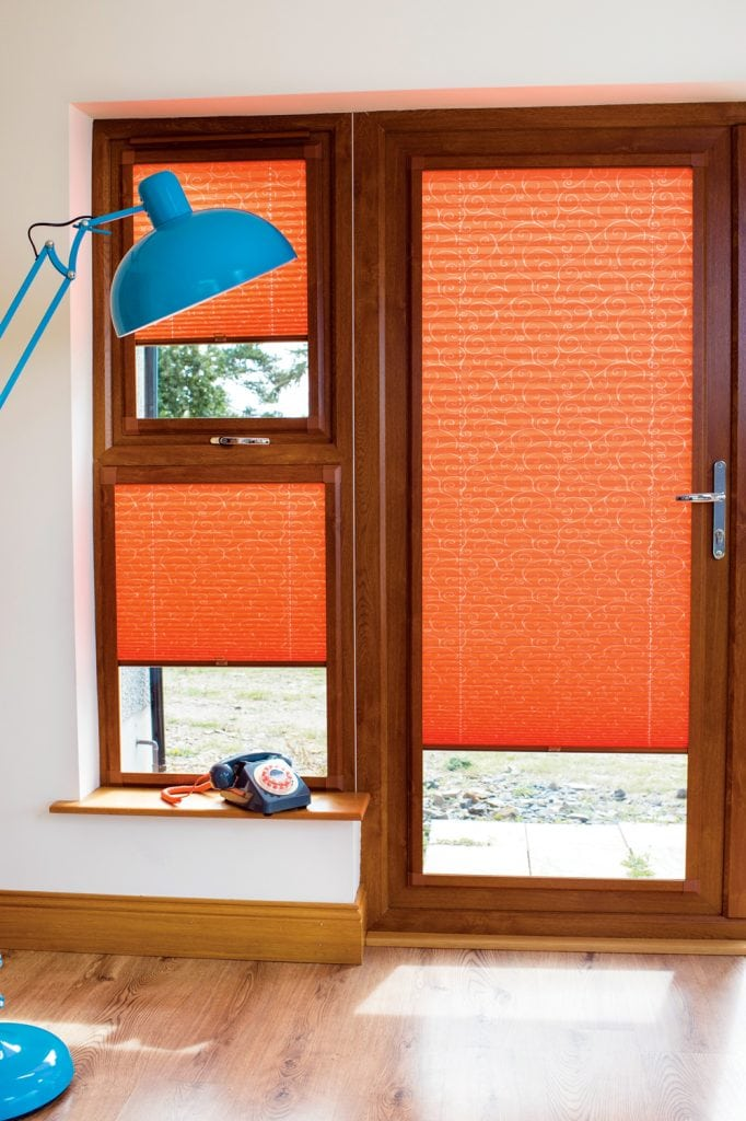 Twine fabric pleated perfect fit blinds - Blinds Norfolk - Norwich Sunblinds