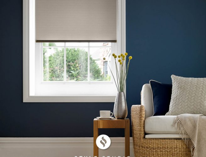 Wicker Taupe roller blind