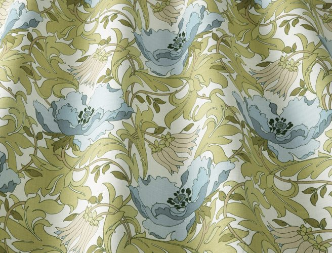 iLiv art deco cornflower fabric sample for made to measure curtains