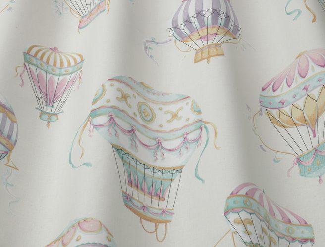 iLiv aqua balloons curtain fabric design detail
