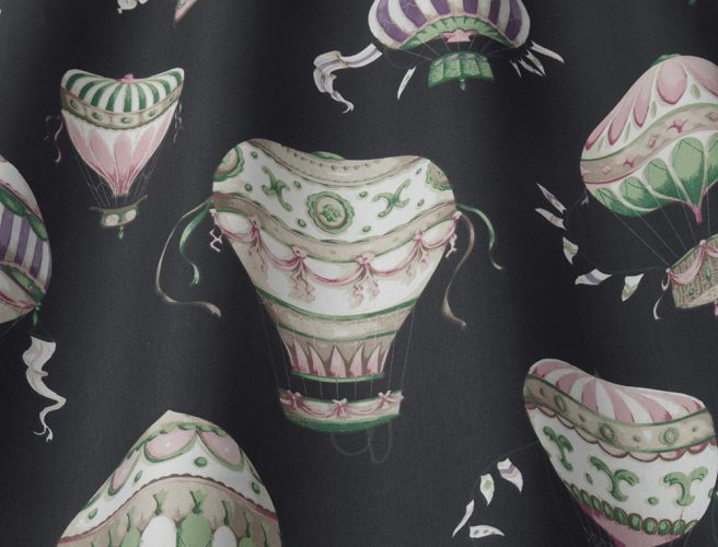iLiv ebony balloon design for curtains