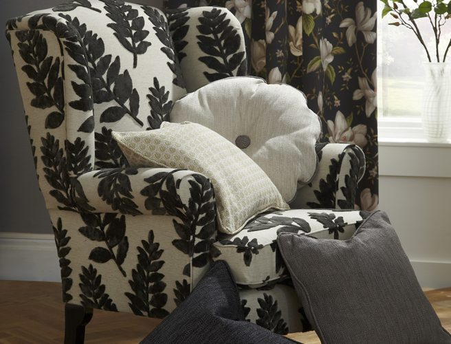 Ebony botanica curtains and soft furnishings