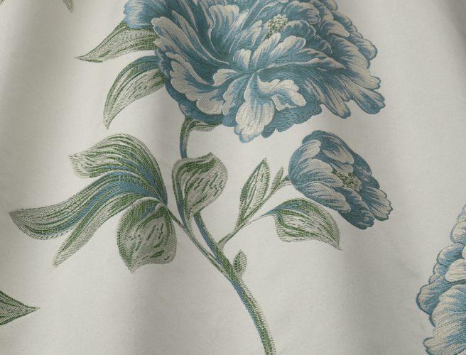 iLiv Camelia fabric design in Cobalt