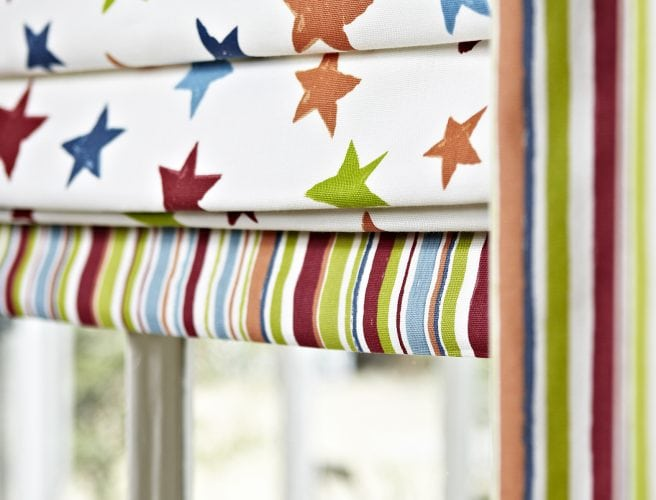Roman Blind from Norwich Sunblinds in a Children's bedroom.