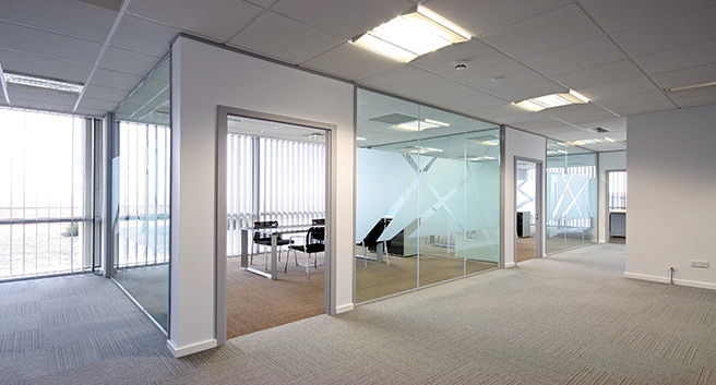 Office Cubicle Fitted Out with Blinds From Norwich Sunblinds - Blinds Norfolk - Norwich Sunblinds