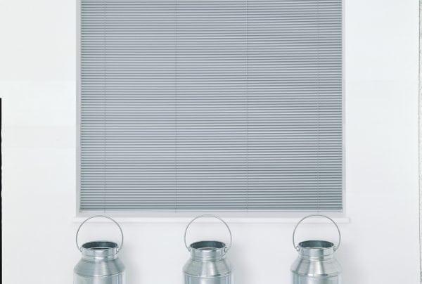 Grey venetian blinds