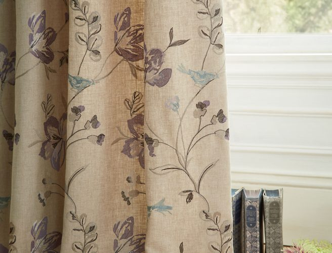 iLiv Hummingbird Amethyst curtain fabric for handmade curtains