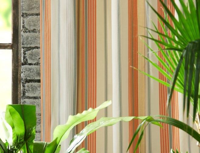 iLiv Hummingbird Tangerine curtain fabric