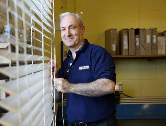 Billy our skilled venetian blinds craftsman