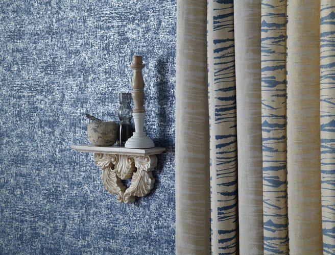 iLiv Matrix Ocean hessian curtain fabric