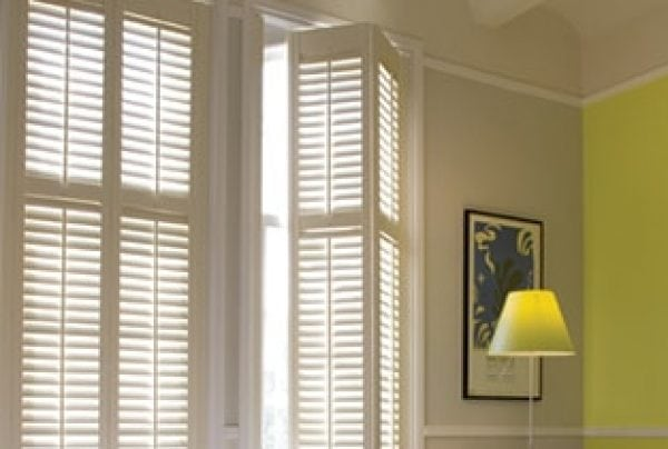 white bedroom bifold shutters