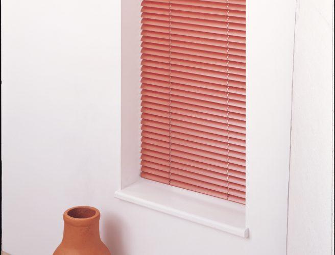 Terracotta Venetian blinds