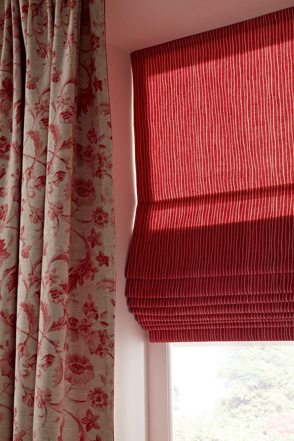 made zoom measure blinds blind to p wooden luxury gloss red