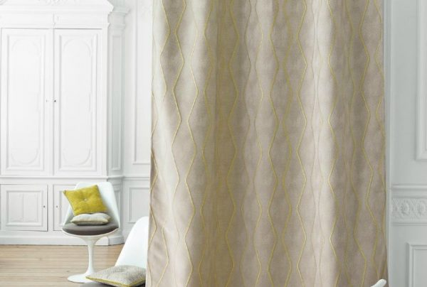 Casadeco ZigZag Gris Jaune curtain fabric for handmade curtains from Norwich Sunblinds