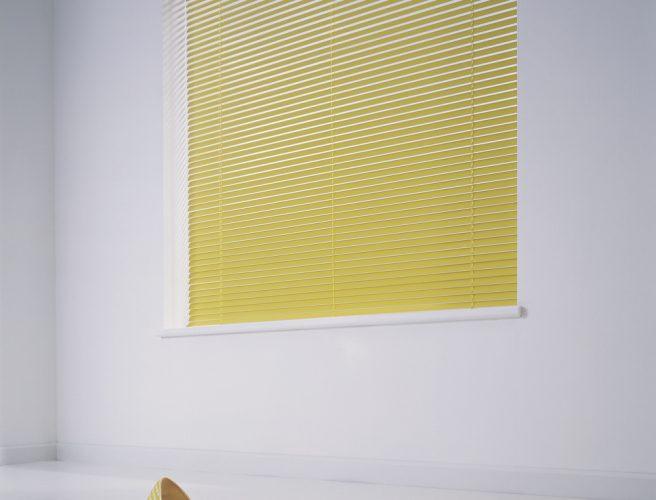 Yellow Venetian Blinds