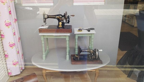 Sewing machine displays
