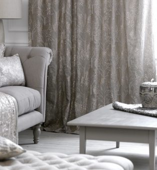 Voyage Couture Range Enchanted Forest in embroidered silver