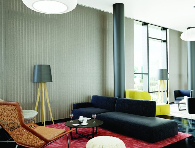 Vertical Blinds in a commercial setting - Blinds Norfolk - Norwich Sunblinds