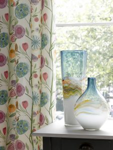 Myanmar design from the Voyage Boutique range of curtain fabrics