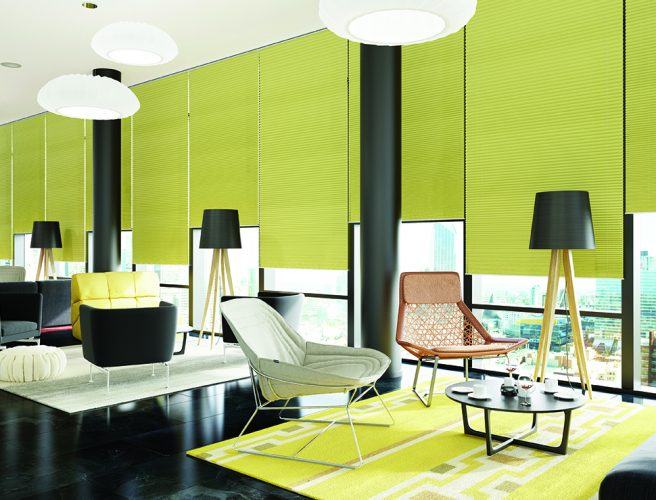 Pleated blinds: Festival Sprint Green