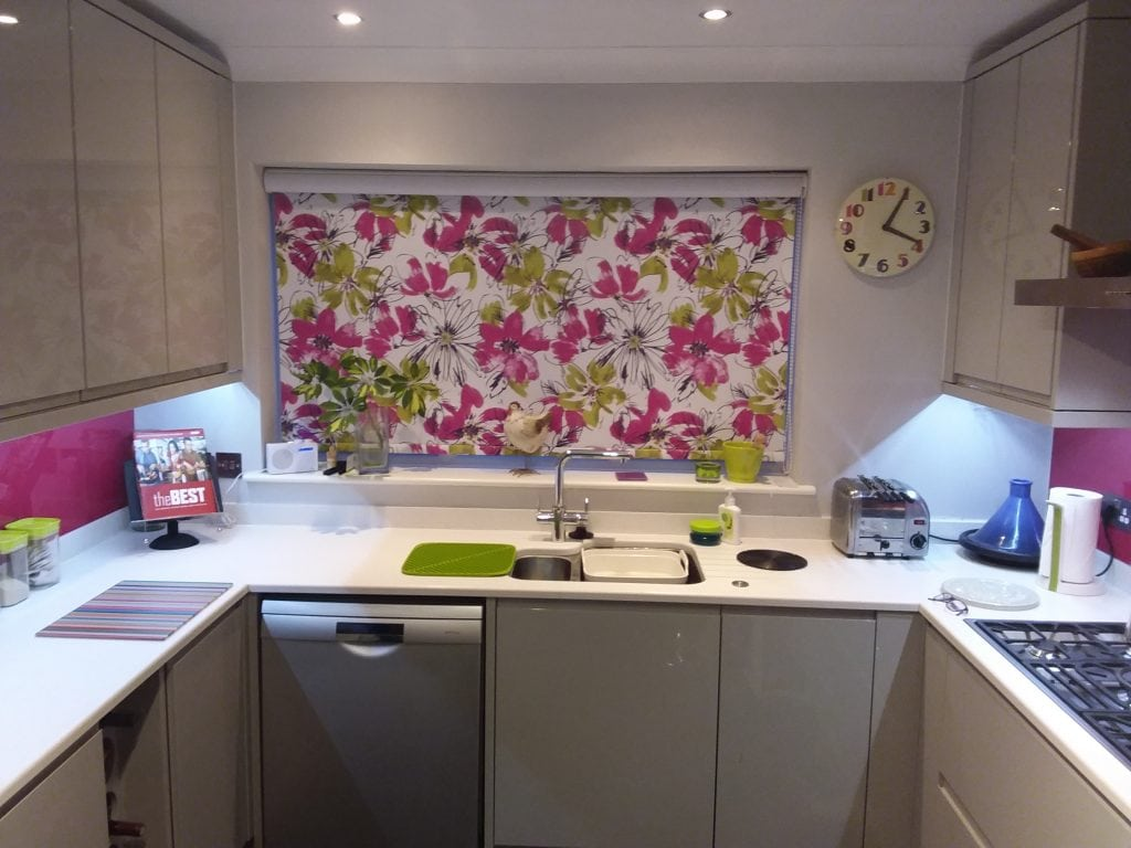 New Kitchen Roller Blinds Fitted In This Norwich Home