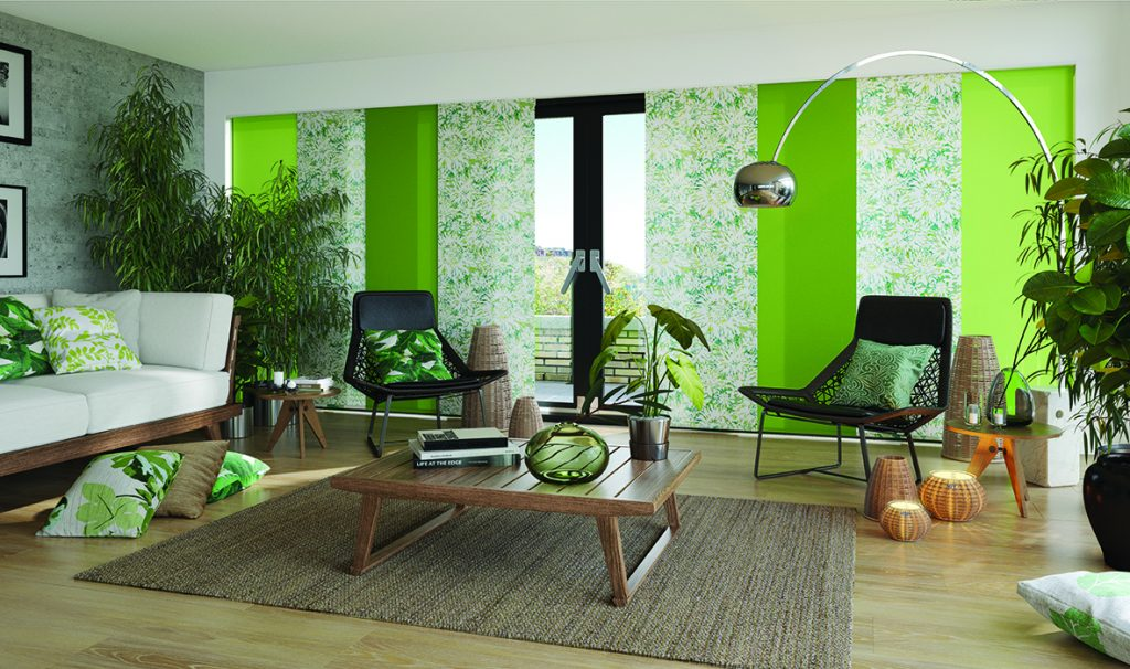 Green Panel blinds