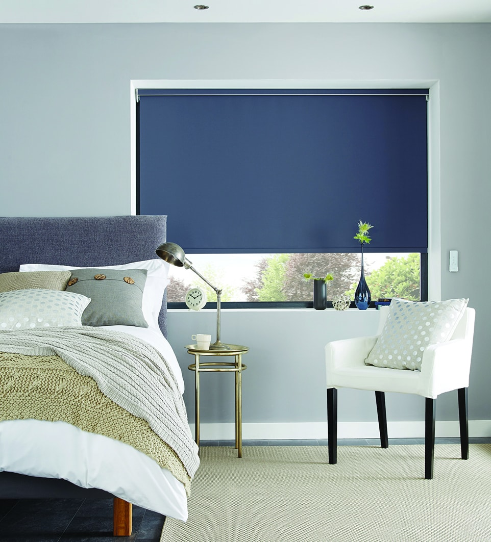 blue roller blind - Blinds Norfolk - Norwich Sunblinds