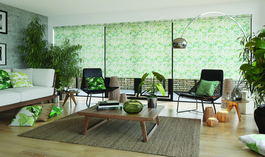 Roller blind Tropicana fabric