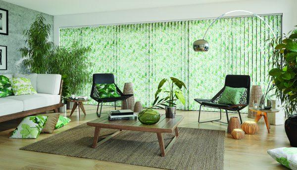 Green Vertical blinds - Blinds Norfolk - Norwich Sunblinds
