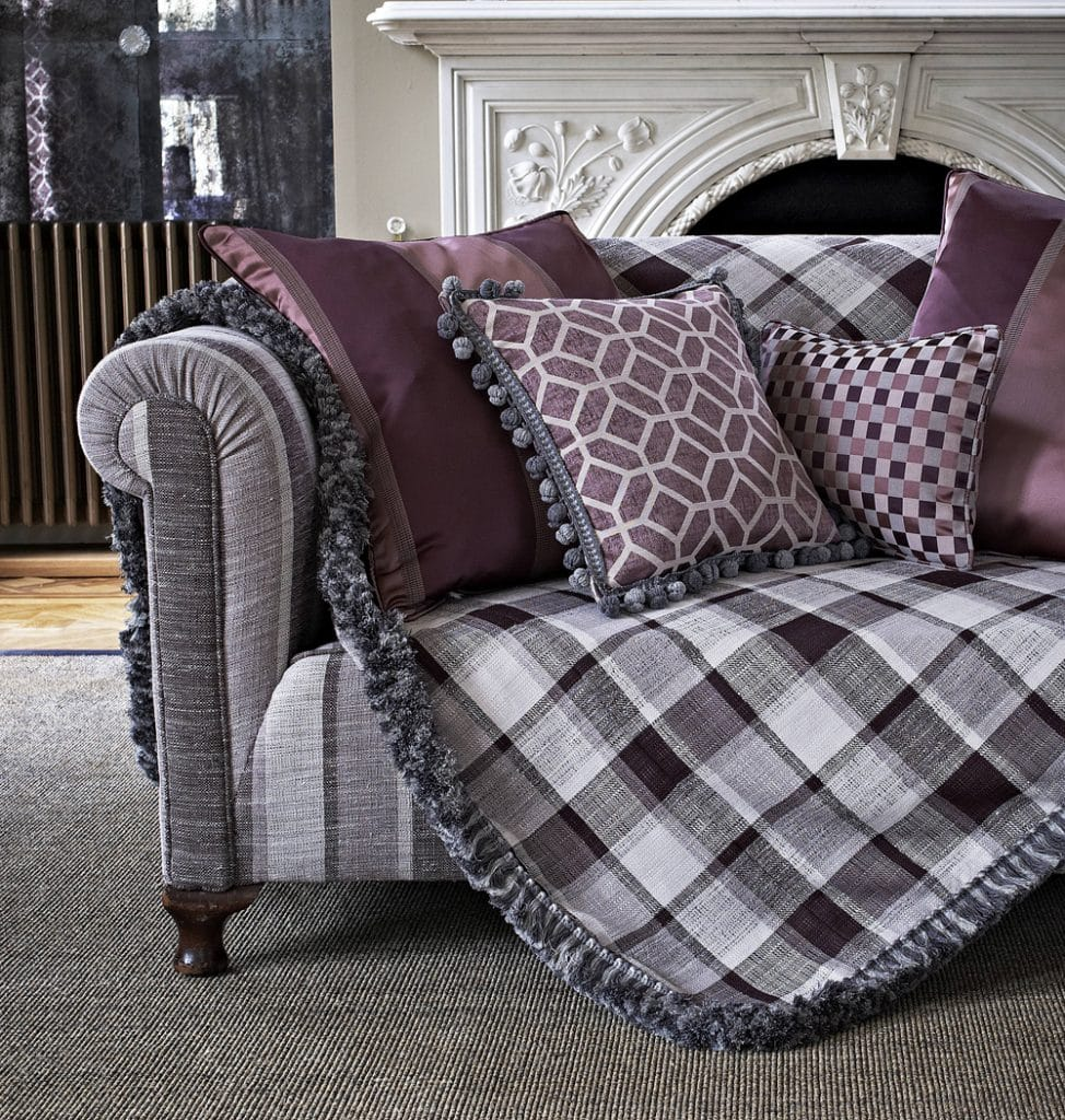 Matching curtains and cushions made from Prestigious fabrics.
