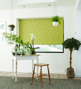 Ayana fabric design on made to measure roller blind - Blinds Norfolk - Norwich Sunblinds