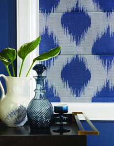 Farrah Sapphire fabric treated with Pollergen - Blinds Norfolk - Norwich Sunblinds