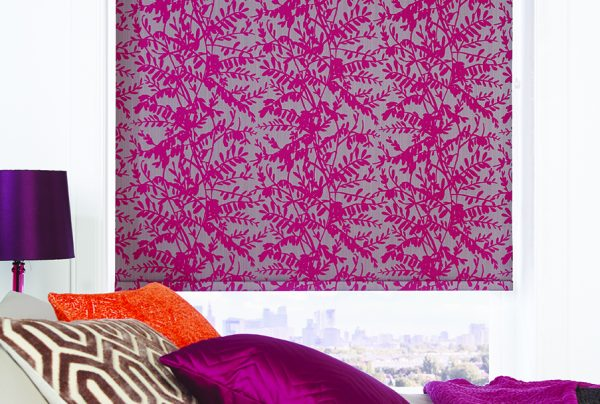 Cerise Blackout roller blinds from Norwich Sunblinds